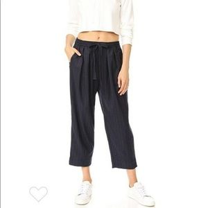 Free People XS Shakin' All Over Pants Navy Blue